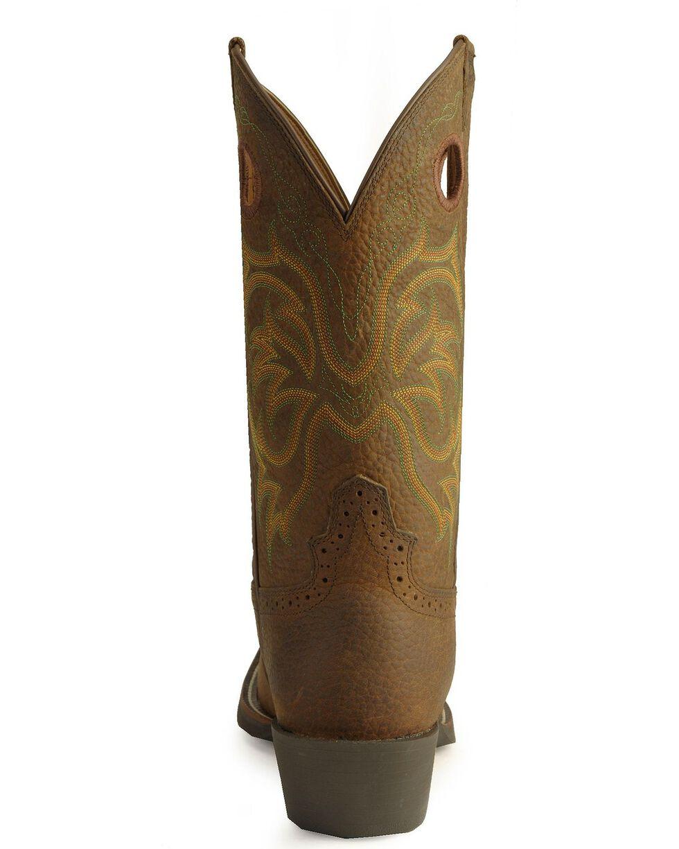 Justin Men's Stampede Punchy Western Boots, Dark Brown, hi-res