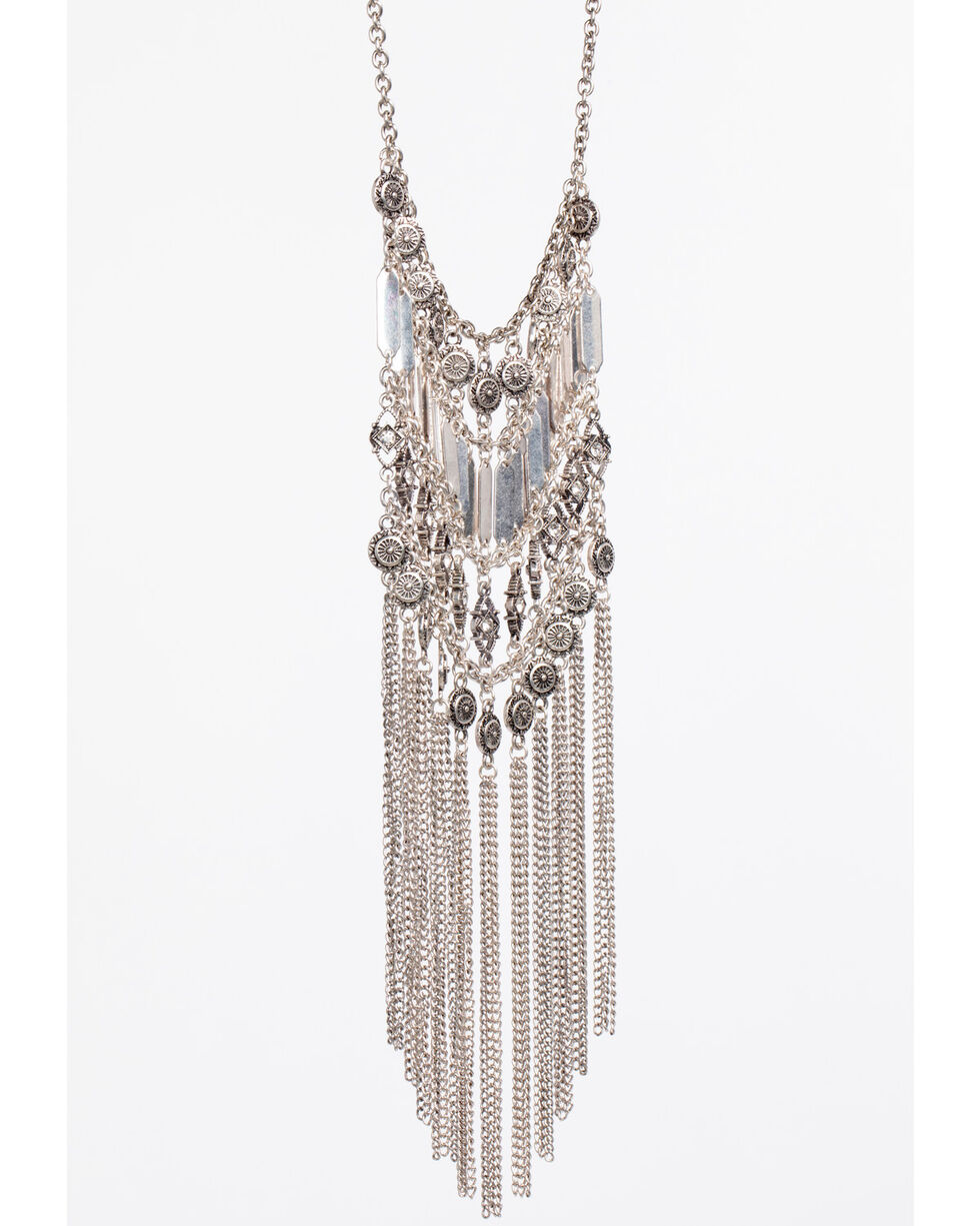 Shyanne® Women's Statement Ladder Necklace, Silver, hi-res