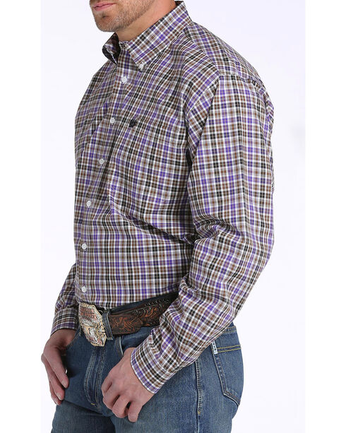Cinch Men's Multi Plaid Plain Weave Long Sleeve Shirt, Multi, hi-res