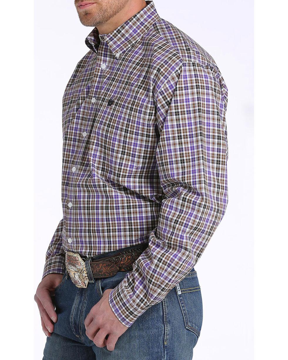 Cinch Men's Multi Plaid Plain Weave Long Sleeve Shirt, Multi, hi-res