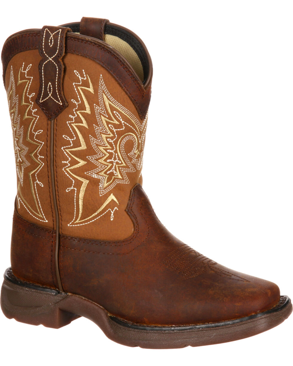 Lil' Durango Boys' Let Love Fly Western Boots, Brown, hi-res