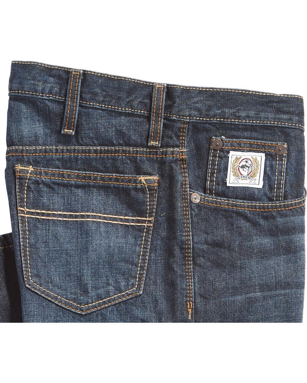 Cinch Men's White Label Dark Denim Jeans - Straight Leg, Indigo, hi-res