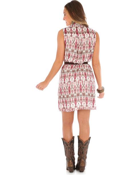 Wrangler Women's Sleeveless Button Placket Plaid Dress, Ivory, hi-res