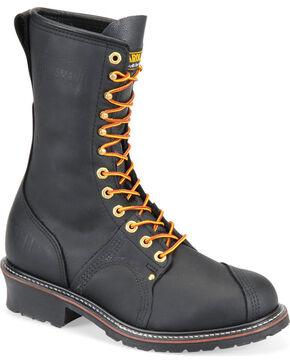 Carolina Men's Pro Steel Toe Pole Climber Boots, Black, hi-res