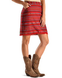 Ryan Michael Women's Cherry Navajo Blanket Skirt , , hi-res