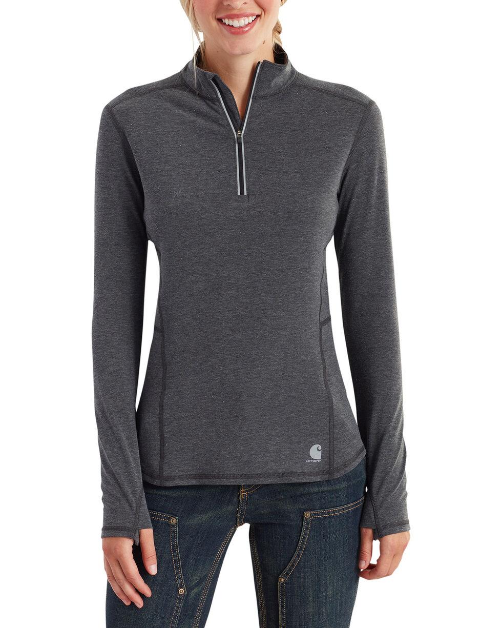 Carhartt Women's Force Ferndale Quarter Zip Shirt , Black, hi-res
