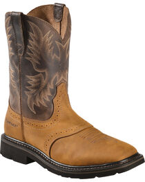 Ariat Sierra Pull-On Western Work Boots - Square Toe, , hi-res