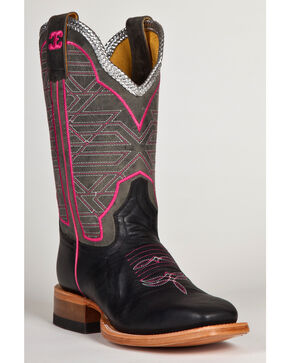 Cinch Women's Geometric Mad Dog Western Boots, Black, hi-res