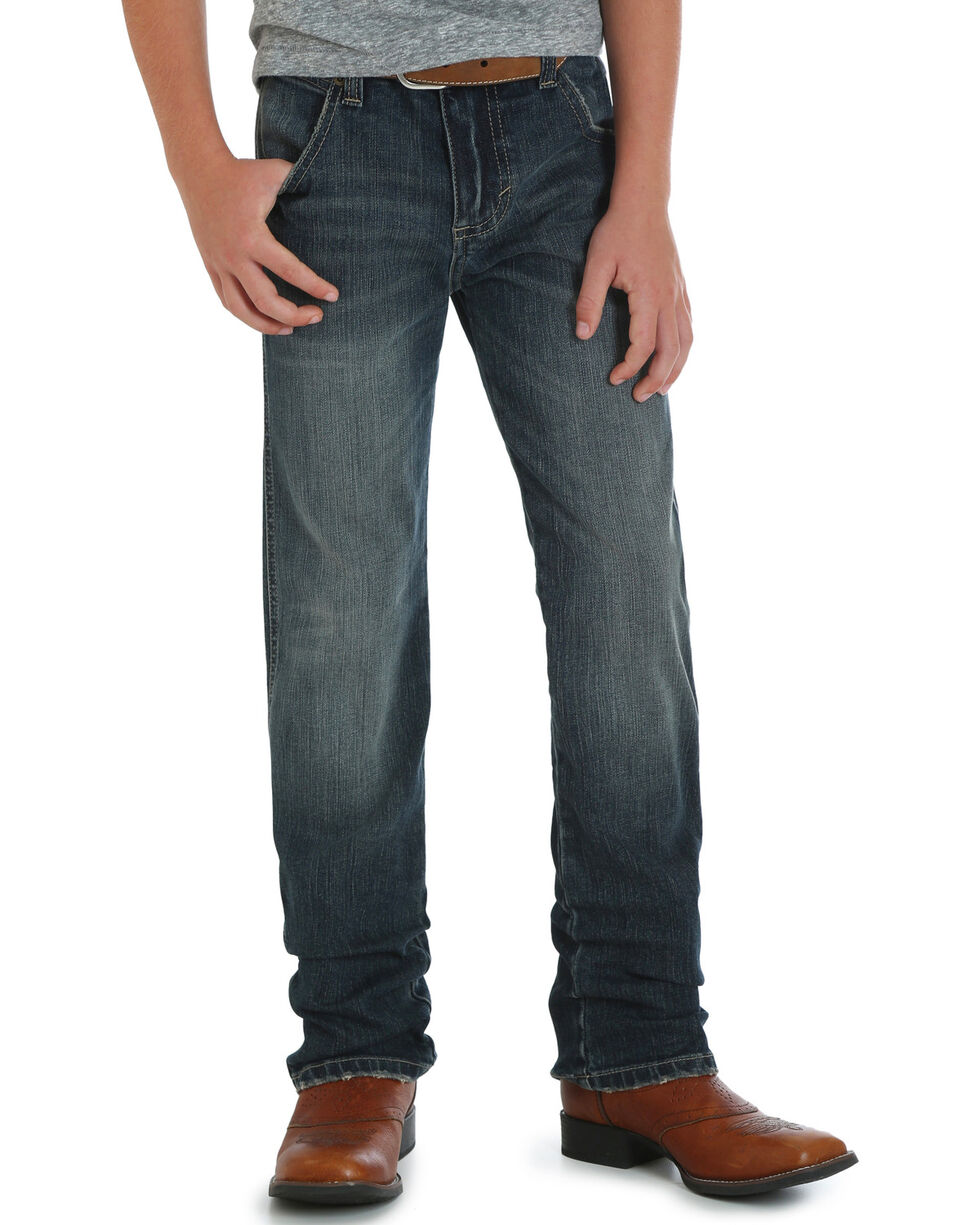 Wrangler Boys' (8-16) RETRO Slim Fit Jeans - Straight Leg , Indigo, hi-res