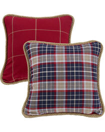 HiEnd Accents South Haven Red Windowpane Throw Pillow, , hi-res