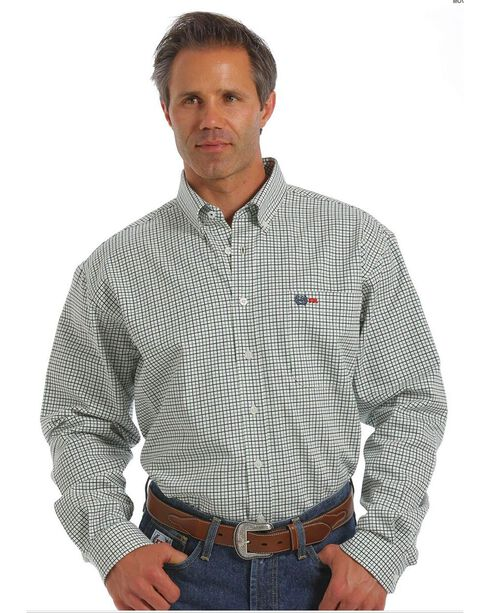 Cinch Men's Flame Resistant Plaid Long Sleeve Work Shirt, Multi, hi-res