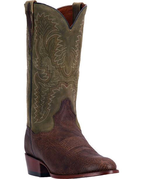 Dan Post Men's Cowboy Boots - Round Toe , Chocolate, hi-res
