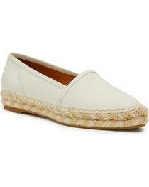 Frye Women's White Lee A Line Slip-Ons , , hi-res