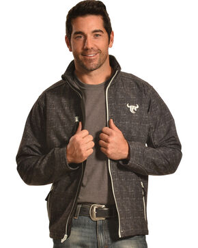 Cowboy Hardware Men's Softshell Jacket, Black, hi-res