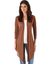 Wrangler Women's Three Quarter Sleeve Length Solid Cardigan, , hi-res