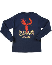 Browning Men's Navy Hells' Canyon Speed Long Sleeve T-Shirt , , hi-res