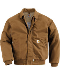 Carhartt Men's Flame Resistant All-Season Bomber Jacket, , hi-res