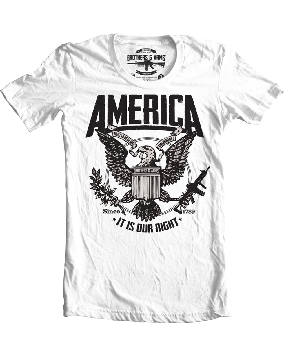 Brothers & Arms Men's America Tee , White, hi-res