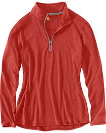 Carhartt Women's Rose Force Performance Quarter-Zip Shirt , , hi-res