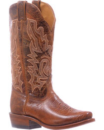 Boulet Brown Cutter Cowgirl Boots - Snip Toe , , hi-res