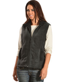 Jane Ashley Sherpa Fleece Vest, , hi-res