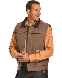 Crazy Cowboy Men's Taupe Rancher Vest , , hi-res