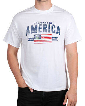 Fencepost Men's Property of America T-Shirt, White, hi-res