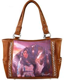 Montana West Horse Art Concealed Handgun Handbag-Laurie Prindle, Brown, hi-res