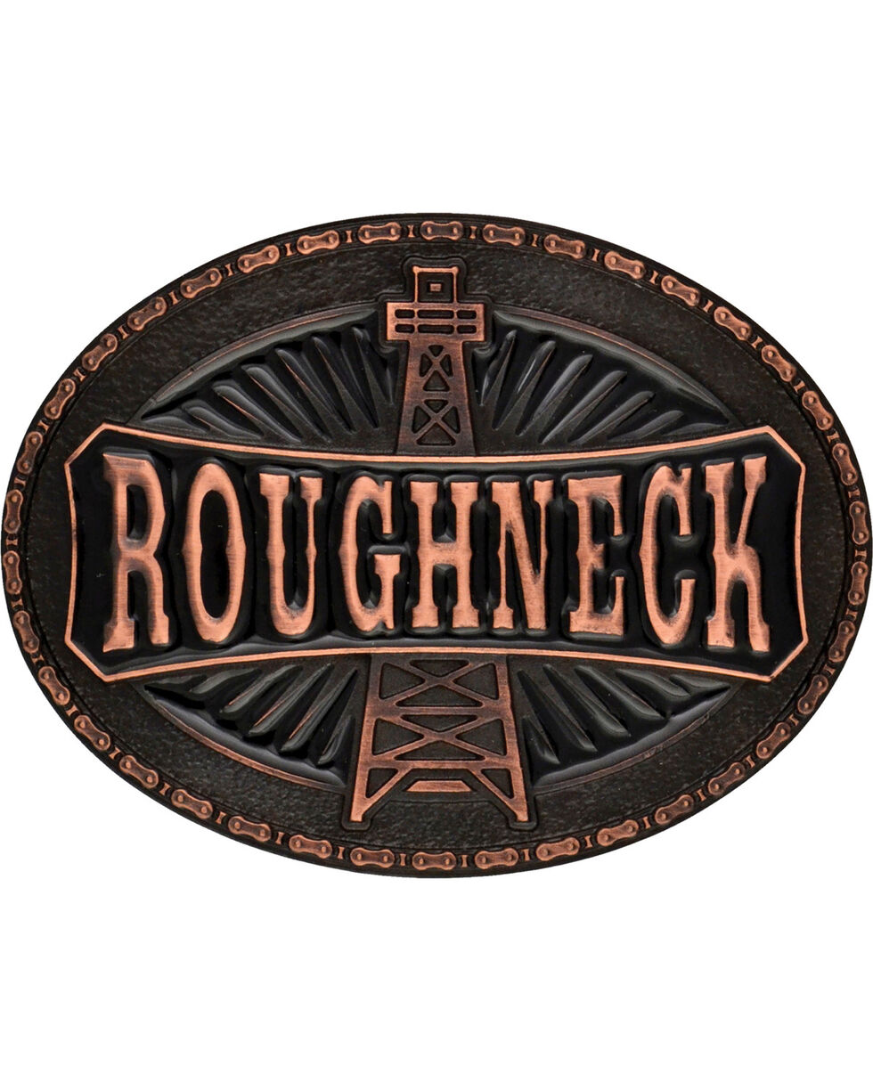 Montana Silversmiths Oil Rig Roughneck Attitude Belt Buckle, Copper, hi-res