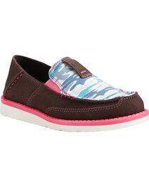 Ariat Girls' Sky Camo Print Cruiser Shoes - Moc Toe, , hi-res