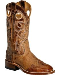 Boulet Puma Tan with Wingtip Overlay Cowgirl Boots - Square Toe, , hi-res
