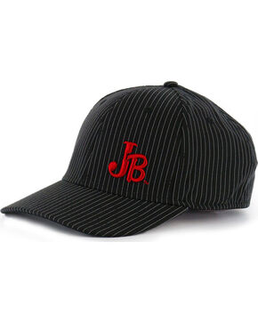 Justin Men's Pin Stripe Flex Ball Cap, Black, hi-res