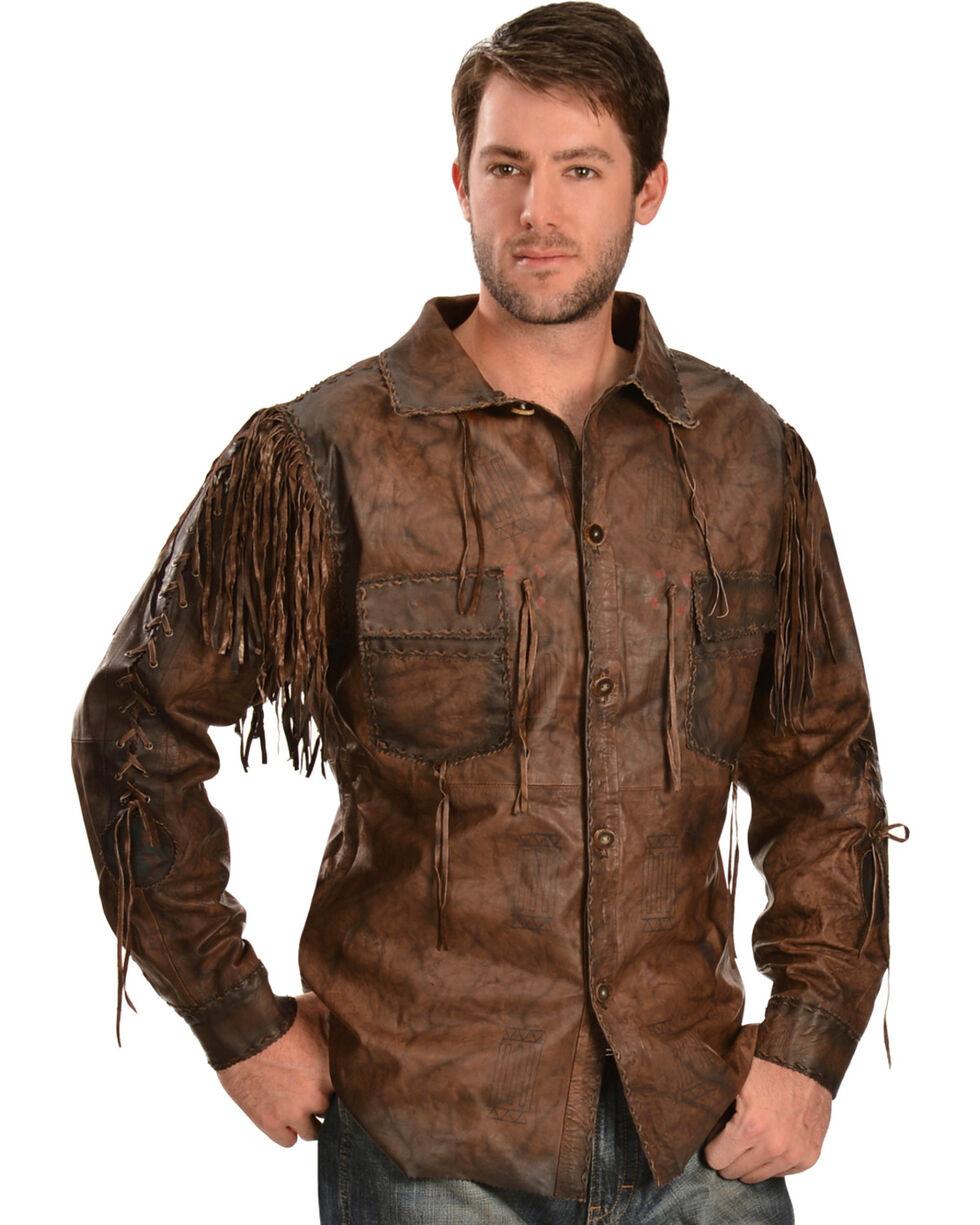 Kobler Leather Men's Chirikahua Leather Shirt, Brown, hi-res