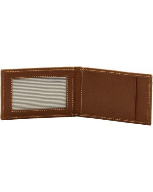 Timberland Men's Hunter Leather Money Clip Wallet, Brown, hi-res