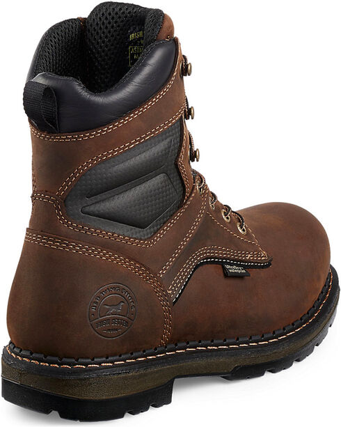 "Red Wing Irish Setter Ramsey Waterproof Insulated 8"" Lace-Up Work Boots - Aluminum Toe , Brown, hi-res"