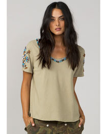 MM Vintage Women's Olive Chasing Dreams Top, , hi-res