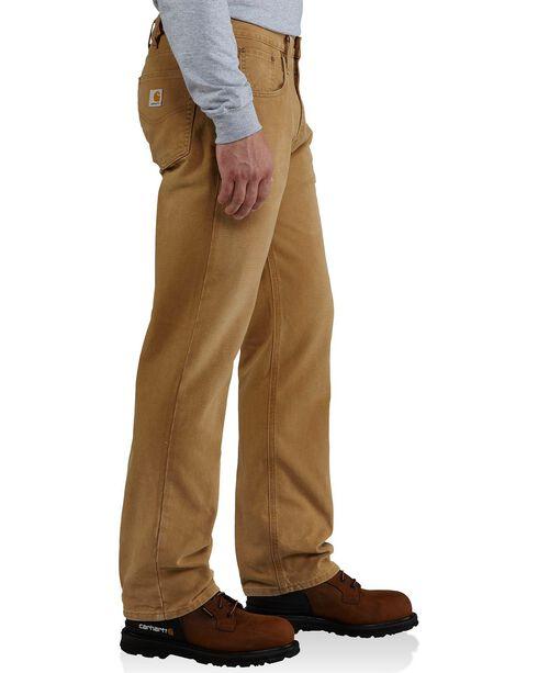 Carhartt Men's Weathered Duck Work Pants, Brown, hi-res