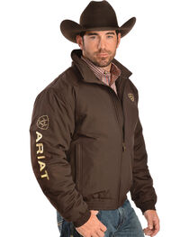 Ariat Brown Insulated Team Logo Jacket, , hi-res