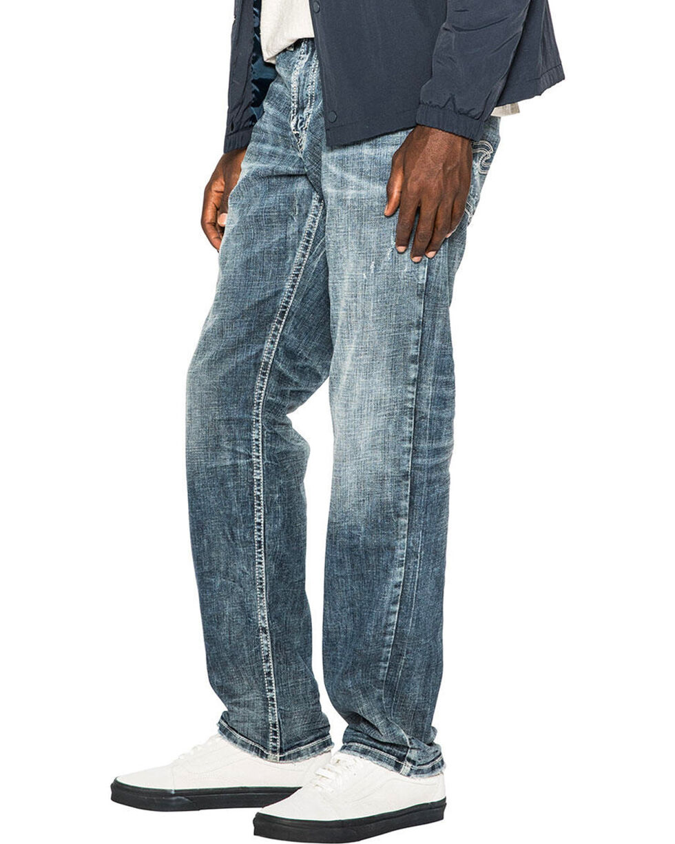 Silver Men's Eddie Relaxed Fit Straight Leg Jeans, Indigo, hi-res