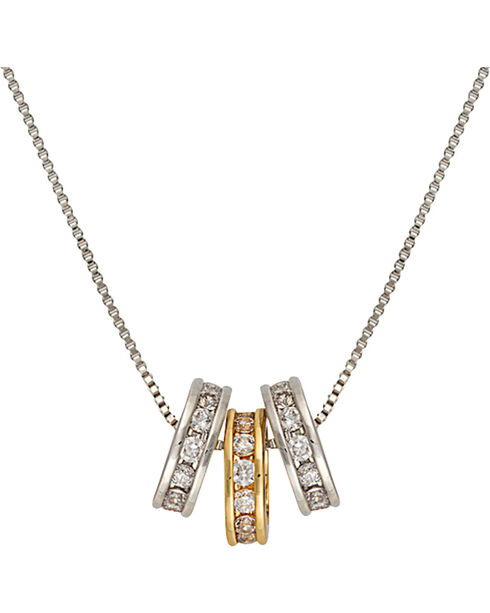 Montana Silversmiths Two-Tone Triple Shine Necklace, Silver, hi-res