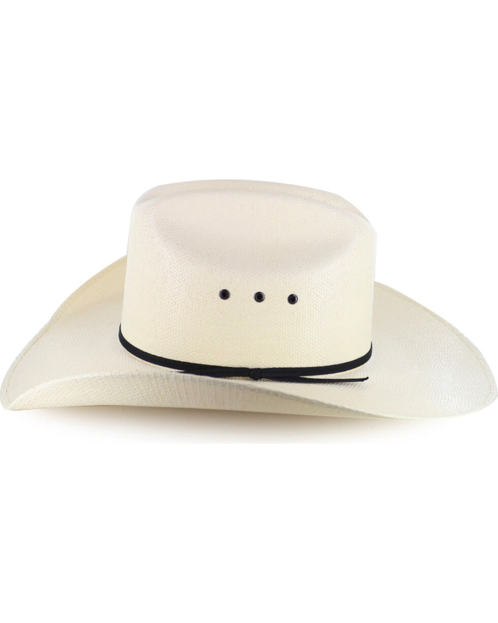Cody James® Men's Black Tie Straw Hat, Natural, hi-res