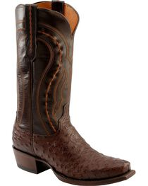 Lucchese Handcrafted 1883 Western Full Quill Ostrich Cowboy Boots - Square Toe, , hi-res