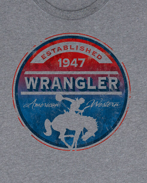 Wrangler Men's Grey Circle Graphic Established 1947 Tee , Grey, hi-res