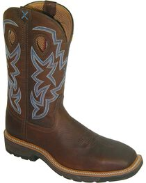 "Twisted X Men's 12"" Lite Cowboy Steel Toe Work Boots, , hi-res"