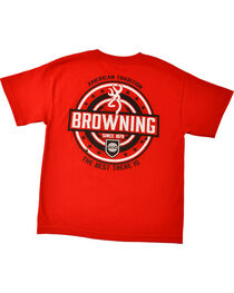 Browning Youth Boys' Red World League T-Shirt , , hi-res