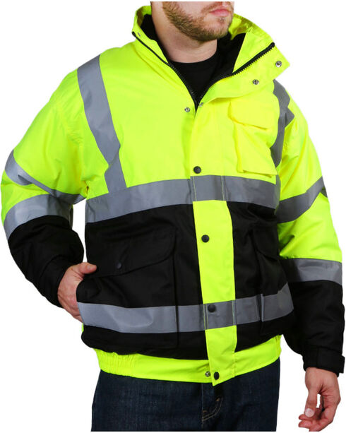 American Worker Men's 3-in-1 Bomber Jacket , Yellow, hi-res