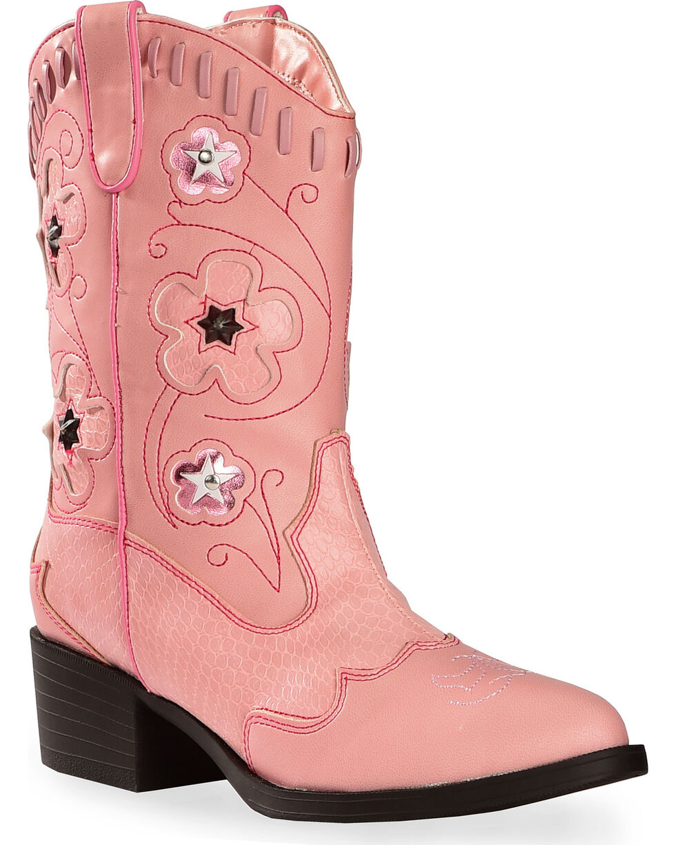 Roper Kid's Light Up Western Boots, Pink, hi-res