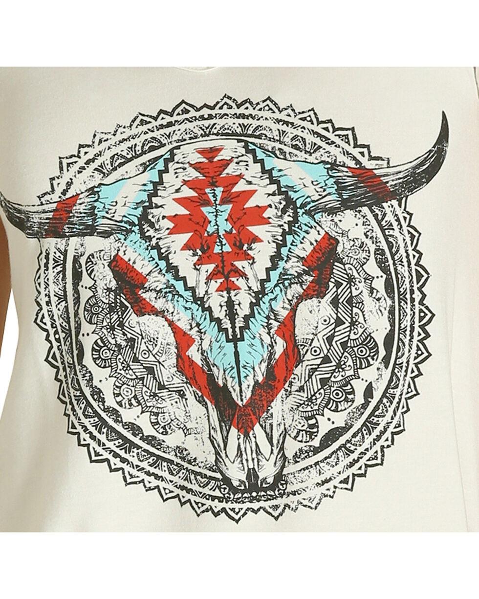 Wrangler Women's White Skull Graphic Tee , White, hi-res