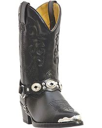 Laredo Youth's Concho Western Boots, , hi-res