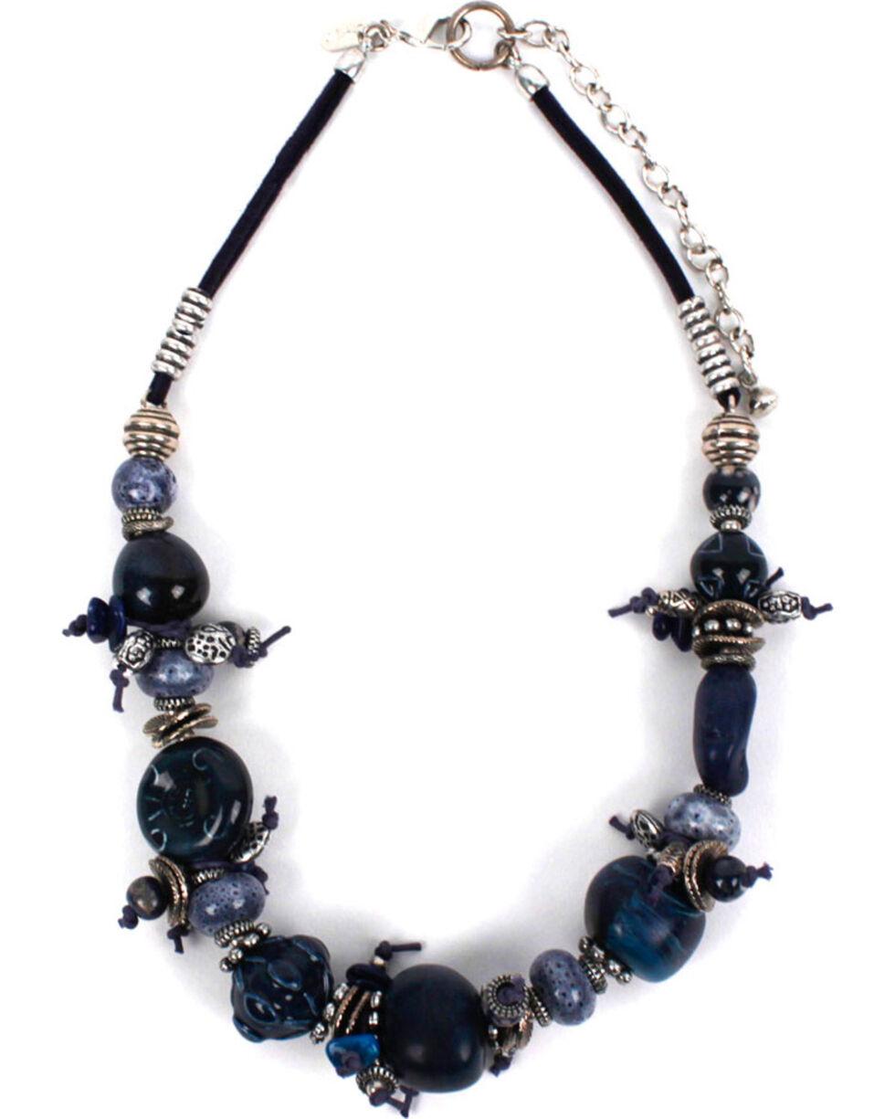 Treska Women's Chunky Beaded Necklace, Blue, hi-res
